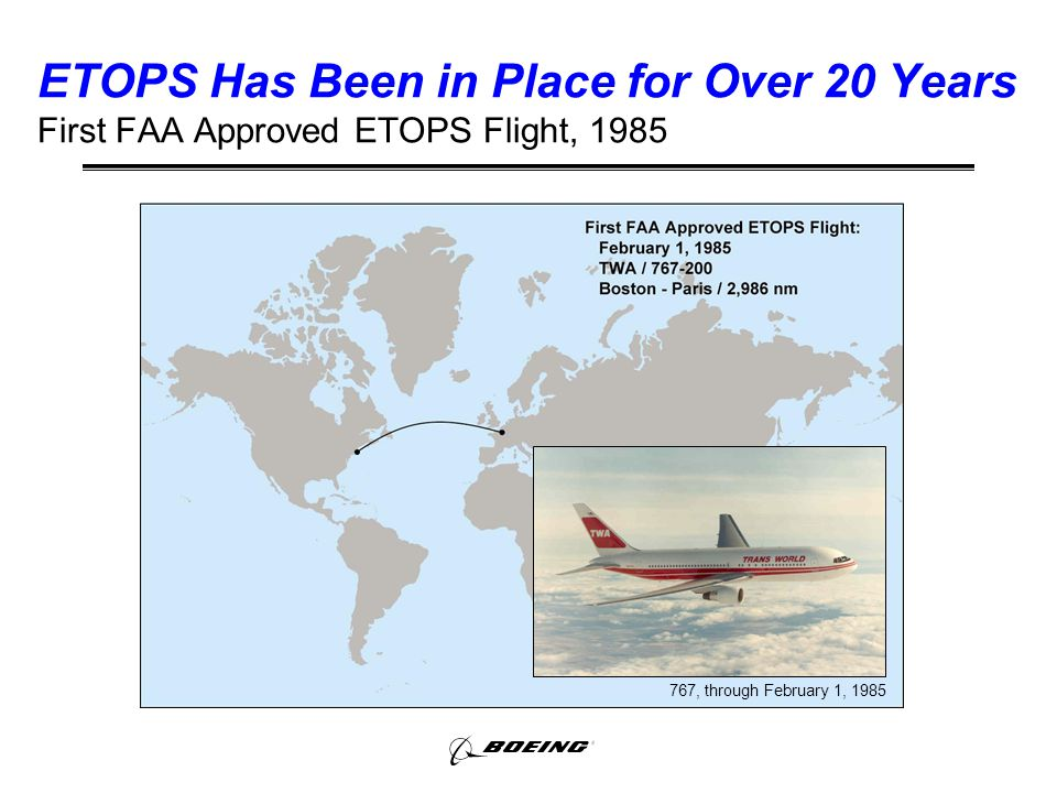 ETOPS, Extended Operations, and En Route Alternate Airports - ppt