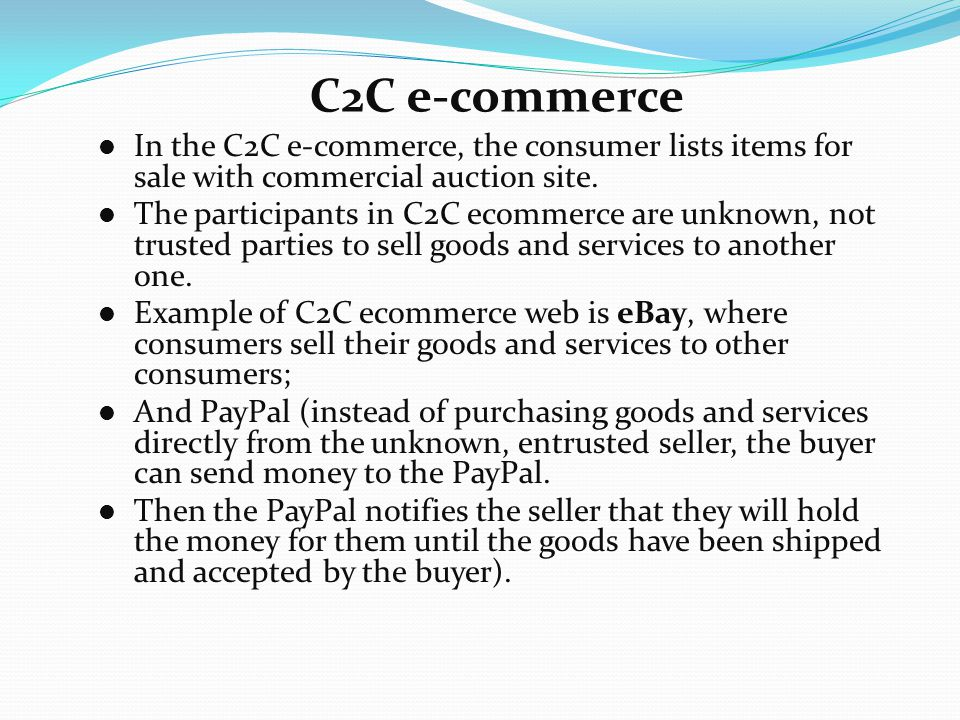 C2c e-commerce market to be the next big thing |.