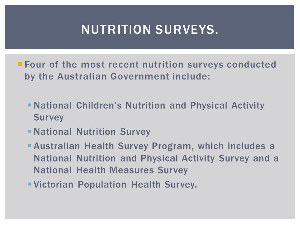 conducted surveys promoting healthy eating ppt download 530