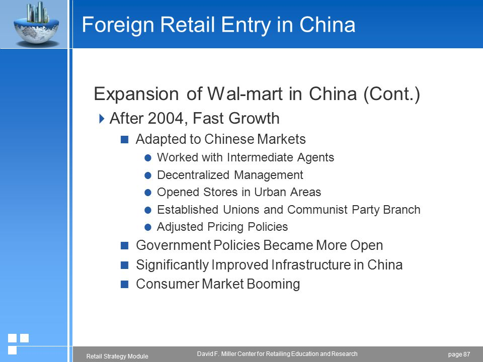 Retail Market Entry Strategy in China - ppt download