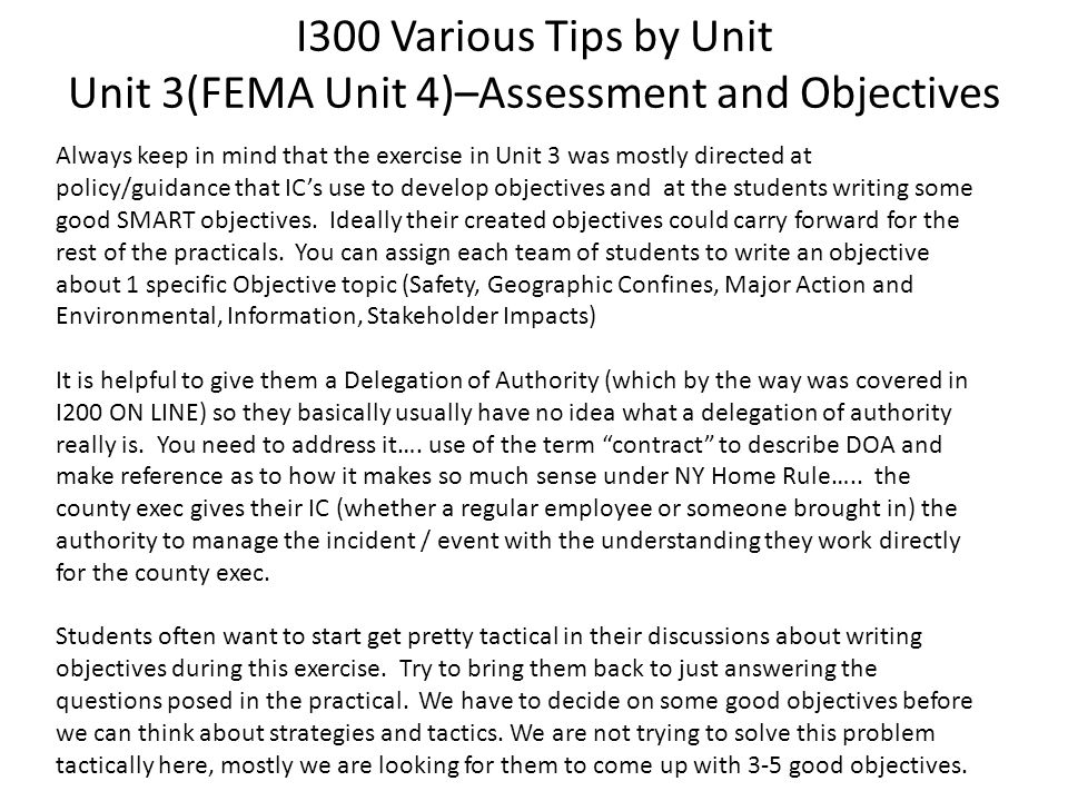 ICS Instruction Tips and Tricks ICS 300 & 400 (blend of workshop