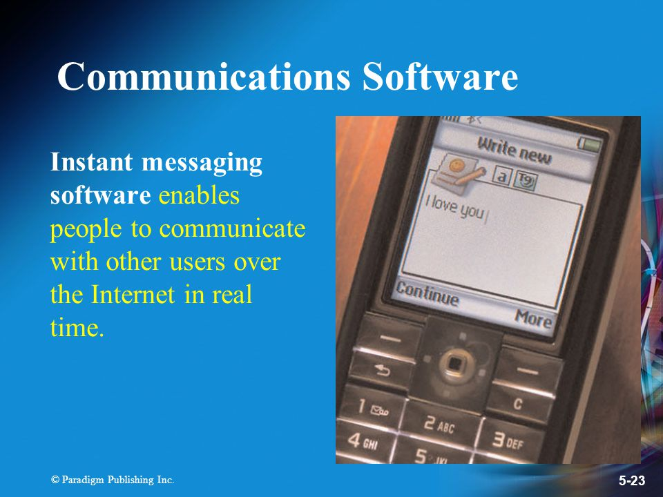 Instant Messages With Others : Chapter application software ppt download