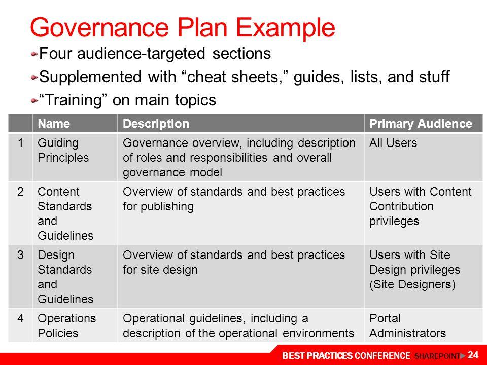 24 Governance Plan Example