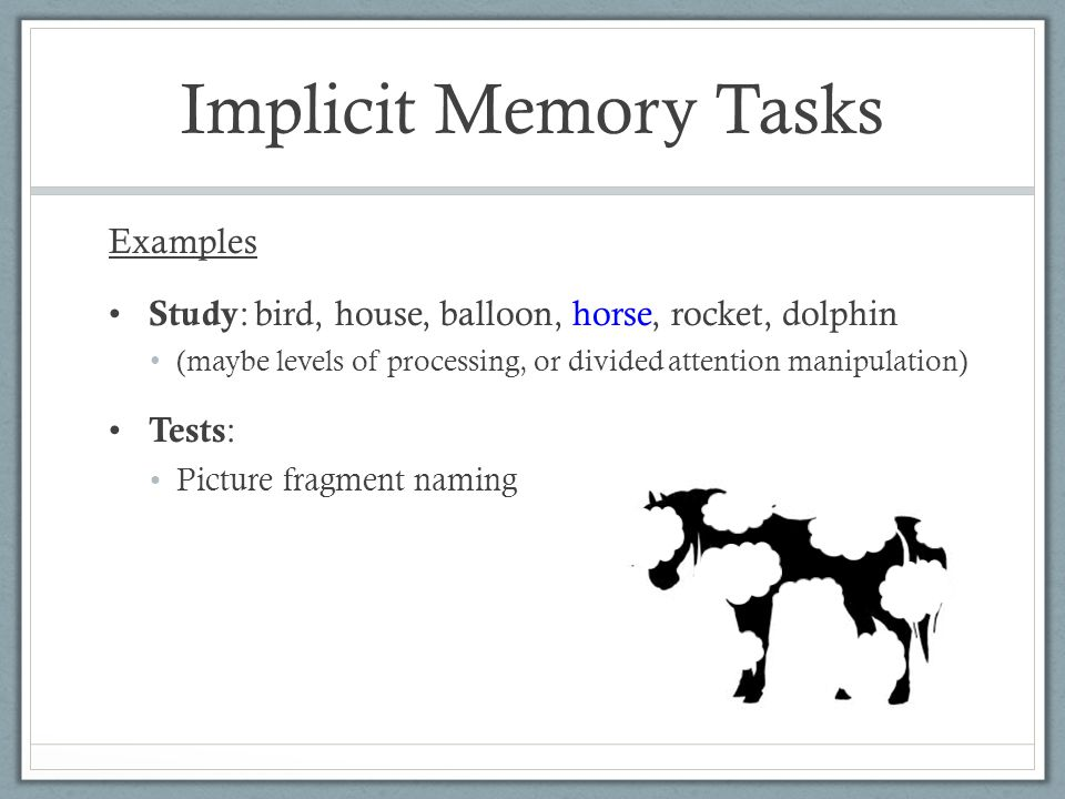 Memory Implicit Memory Ppt Video Online Download