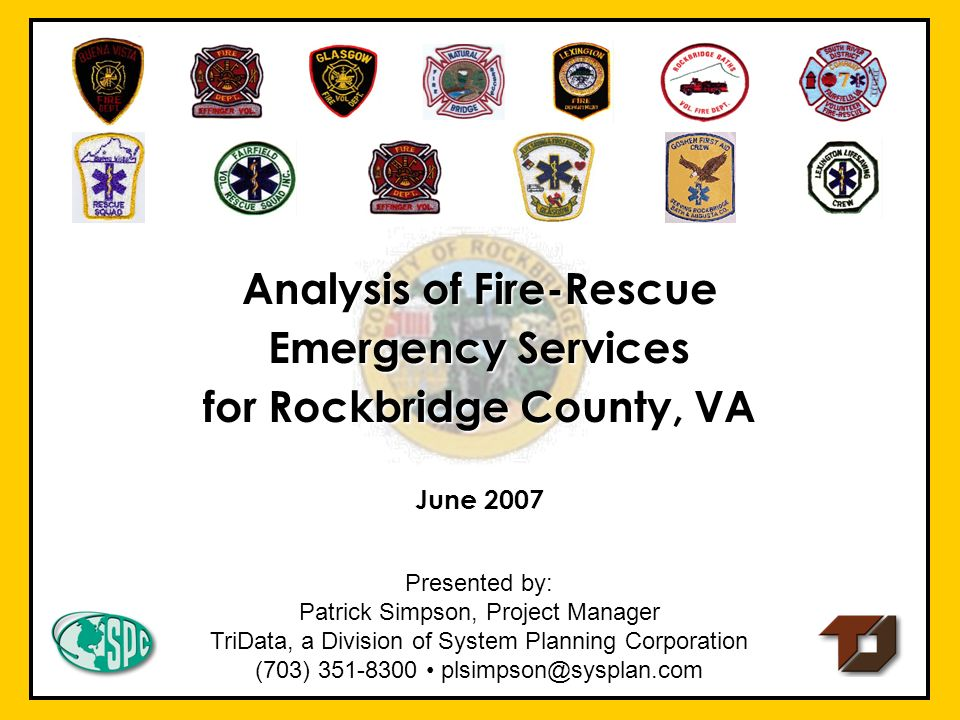Analysis of Fire‑Rescue Emergency Services for Rockbridge County, VA