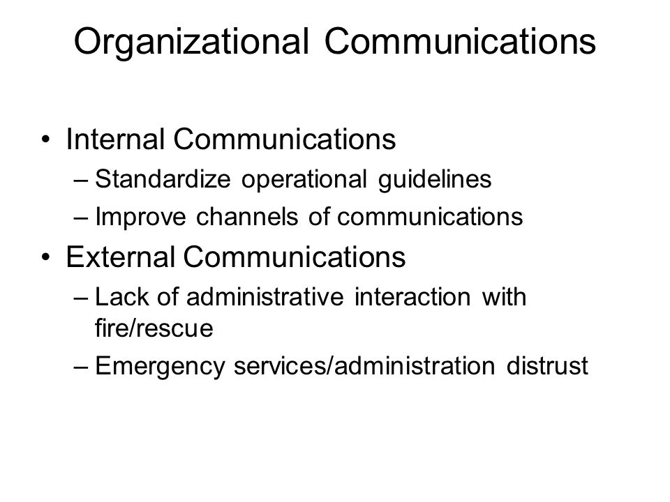 Organizational Communications
