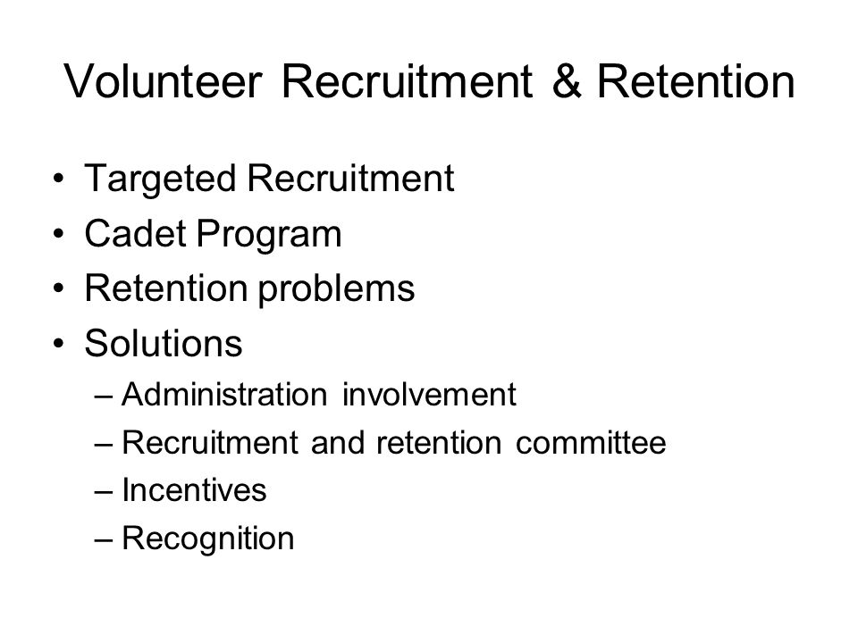Volunteer Recruitment & Retention