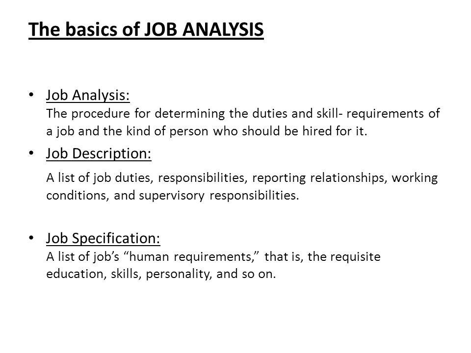 Develop Personnel plans and Job Description - ppt video online download
