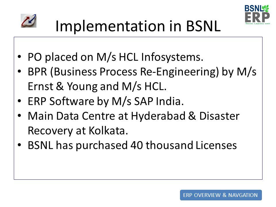 BSNL ERP Project  - ppt video online download
