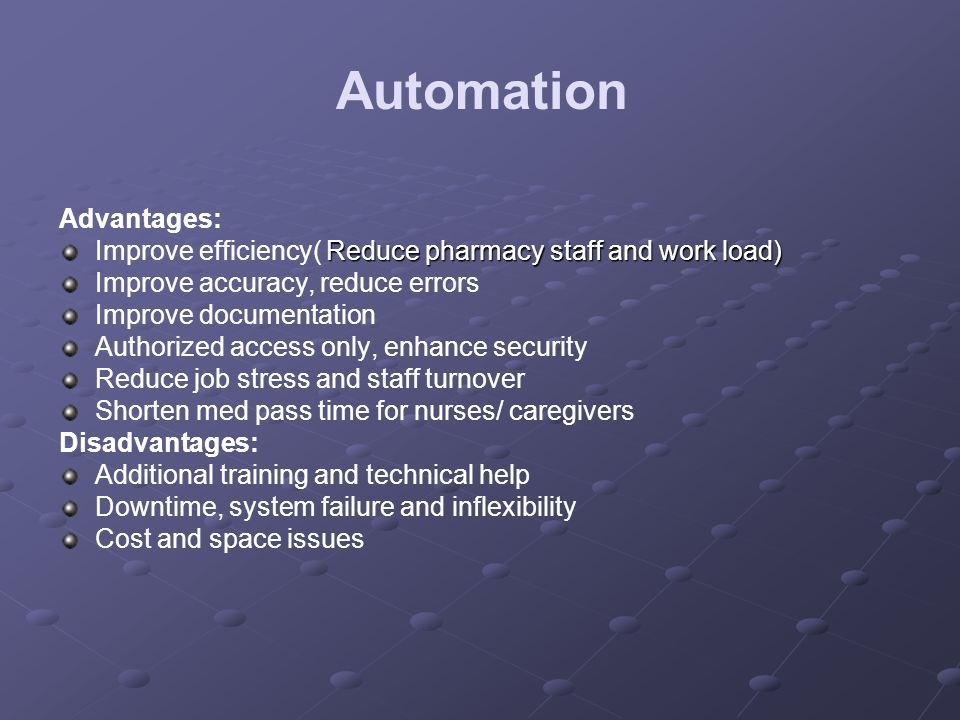 Automation In Pharmacy Ppt Video Online Download
