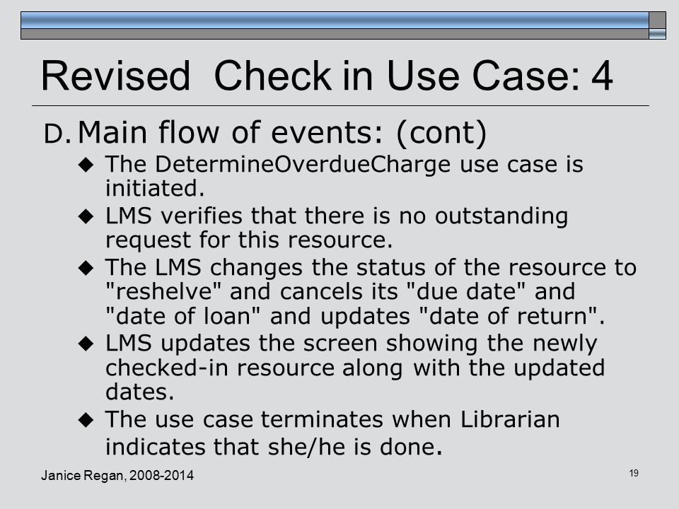 Revised Check in Use Case: 4