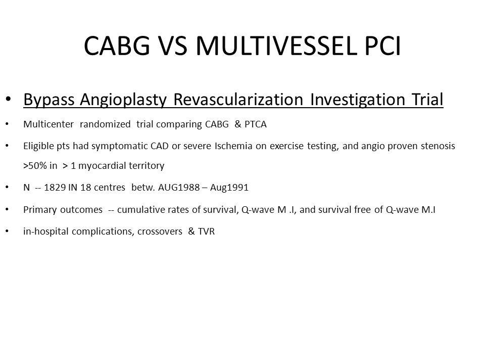 CABG VS MULTIVESSEL PCI