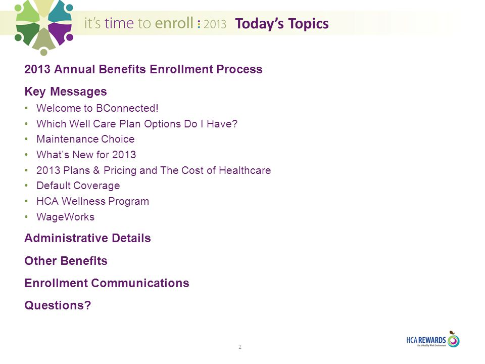 2013 Annual Benefits Enrollment - ppt download