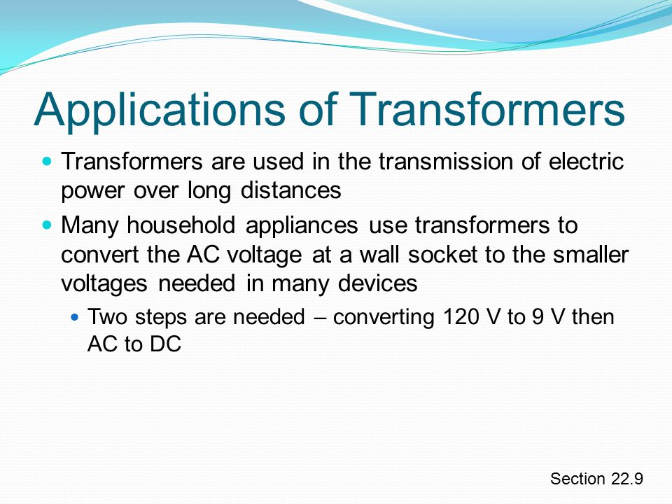 Applications of Transformers