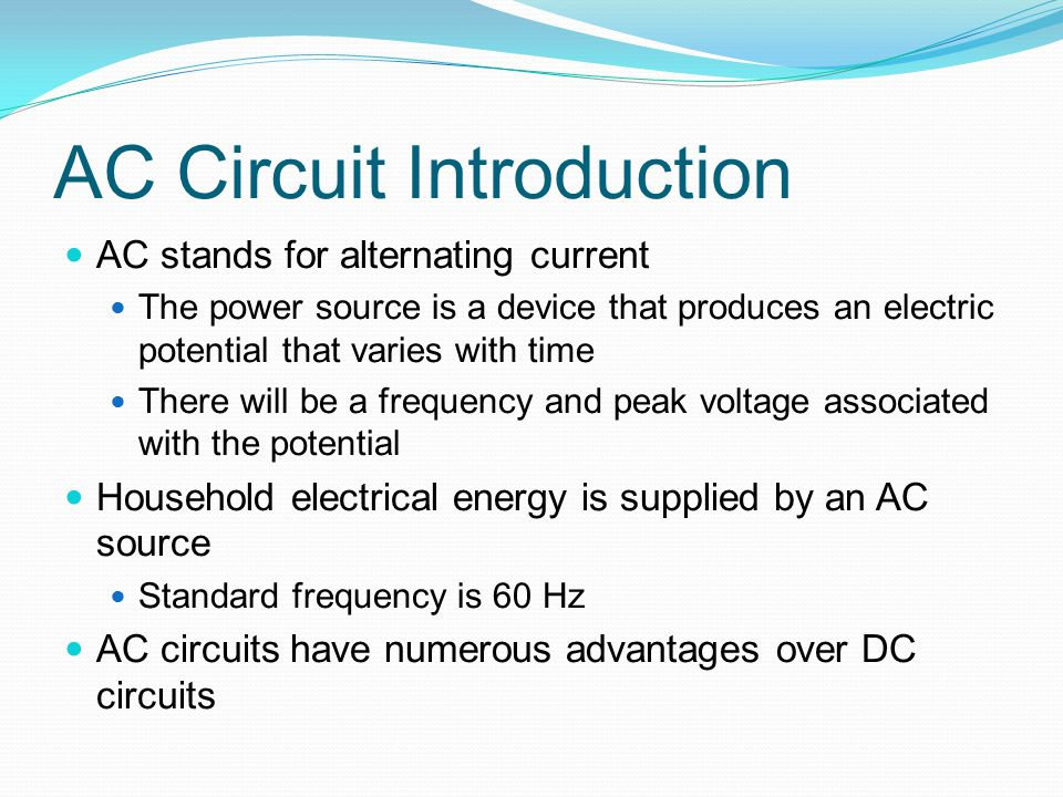 AC Circuit Introduction