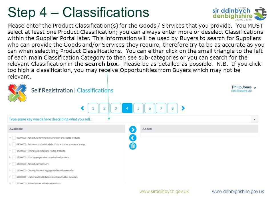 Step 4 – Classifications