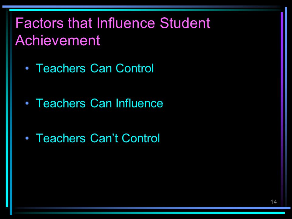 Factors that Influence Student Achievement