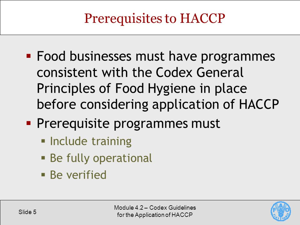 Codex Guidelines for the Application of HACCP - ppt video