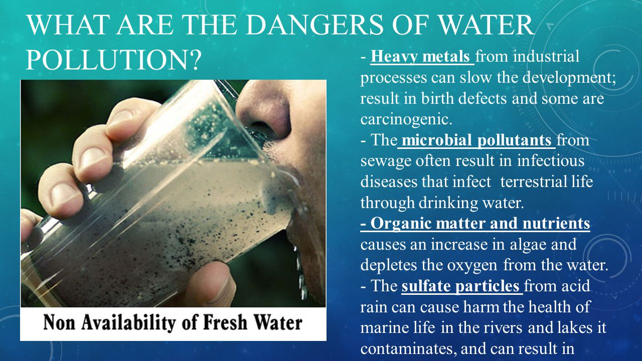 What are the dangers of water pollution