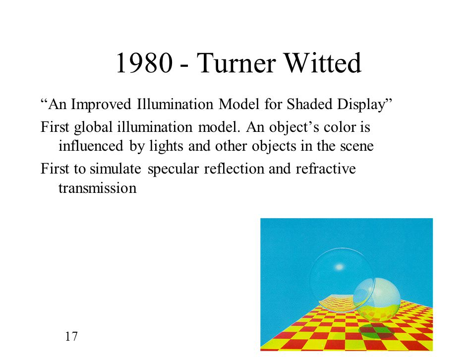 1980 - Turner Witted An Improved Illumination Model for Shaded Display