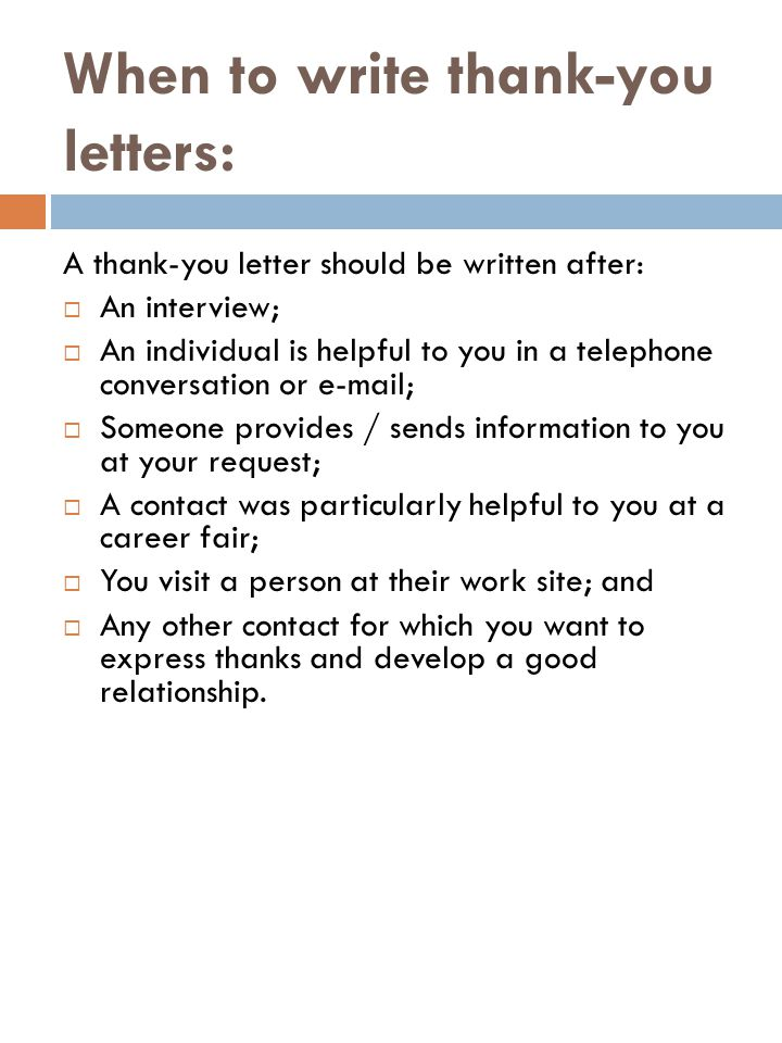 Thank you letters ppt video online download when to write thank you letters expocarfo Images