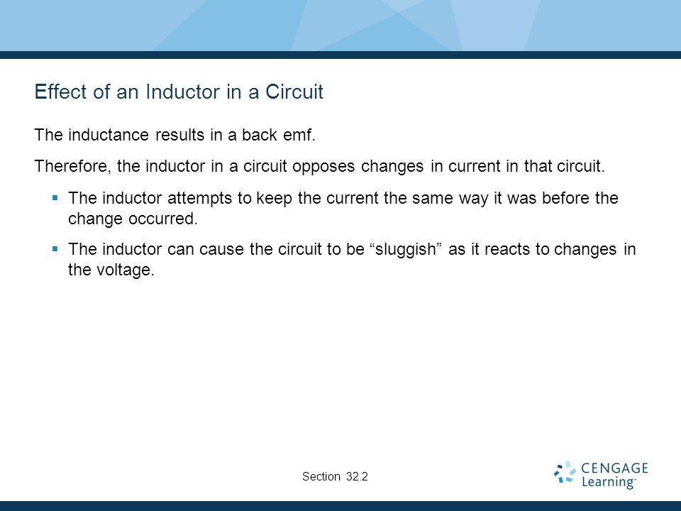 Effect of an Inductor in a Circuit