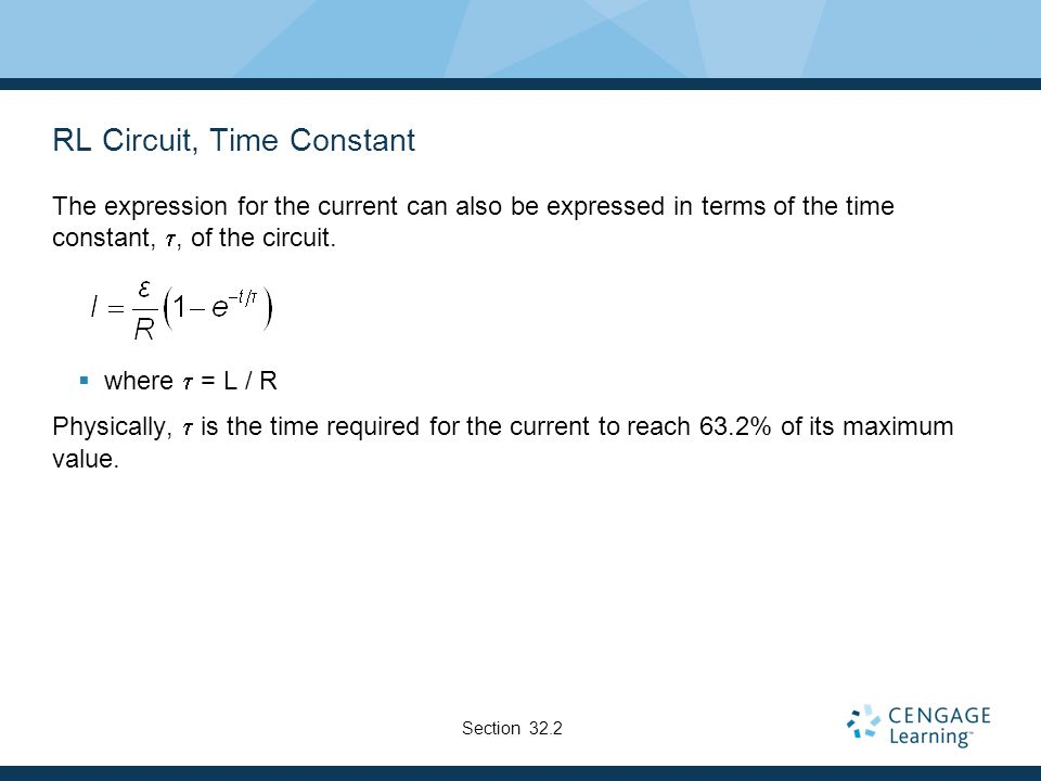 RL Circuit, Time Constant