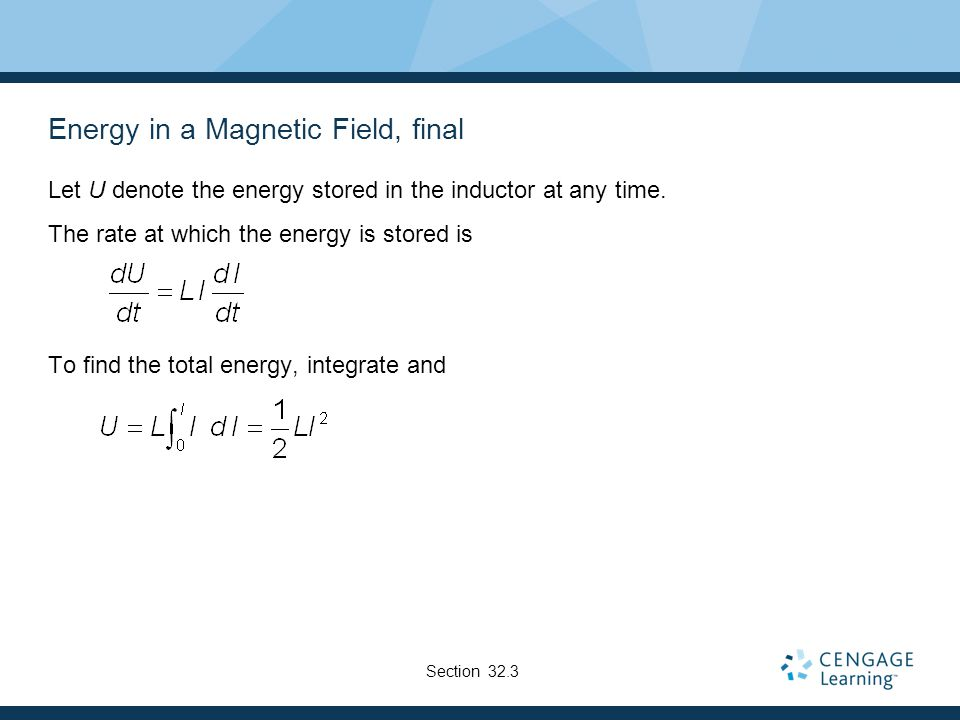 Energy in a Magnetic Field, final