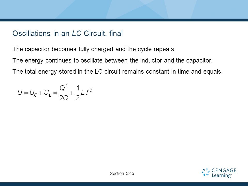 Oscillations in an LC Circuit, final
