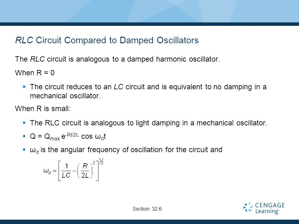 RLC Circuit Compared to Damped Oscillators