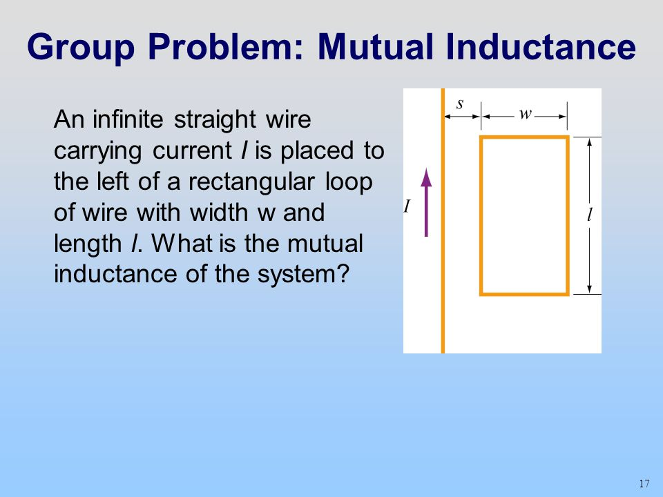 Group Problem: Mutual Inductance
