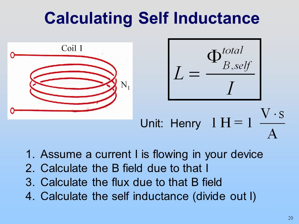 Calculating Self Inductance