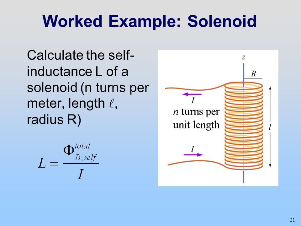 Worked Example: Solenoid
