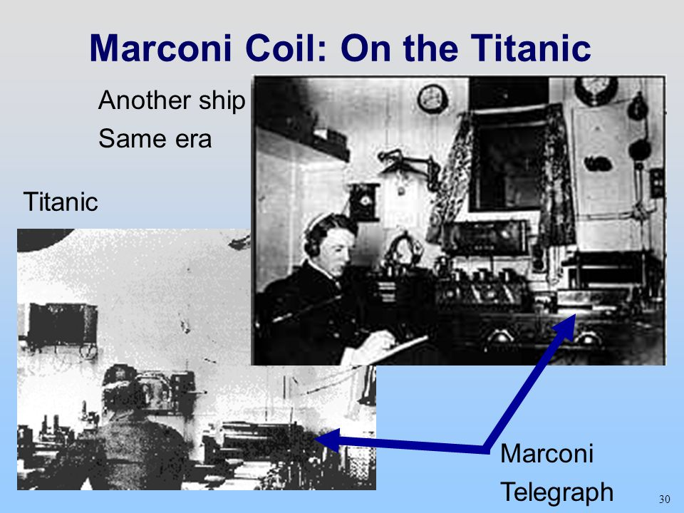 Marconi Coil: On the Titanic