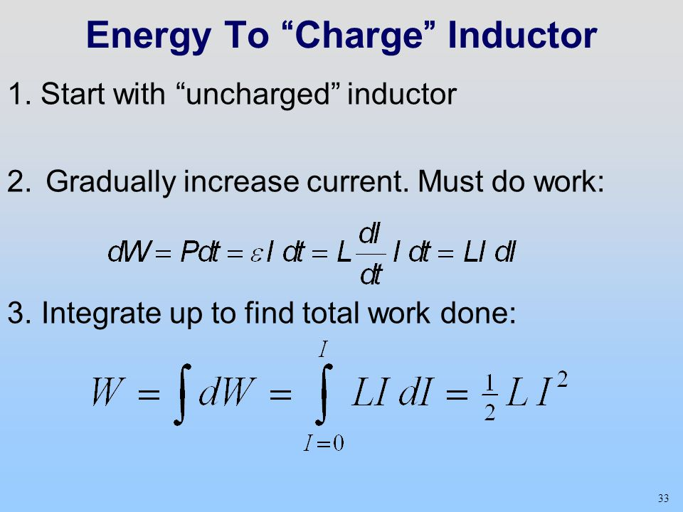 Energy To Charge Inductor