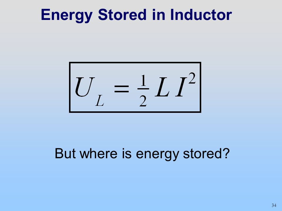 Energy Stored in Inductor