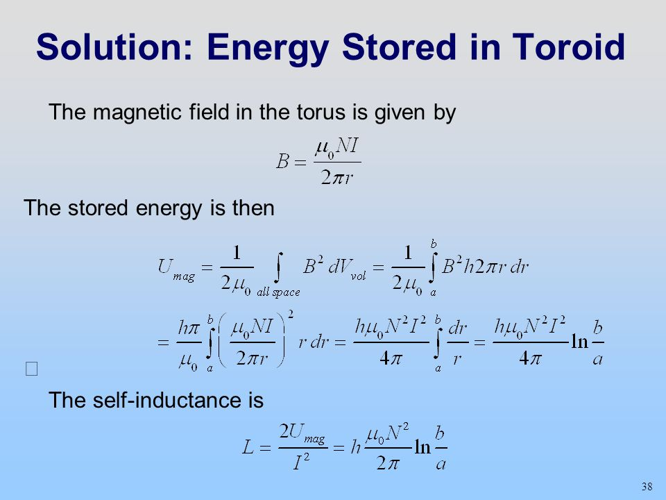 Solution: Energy Stored in Toroid