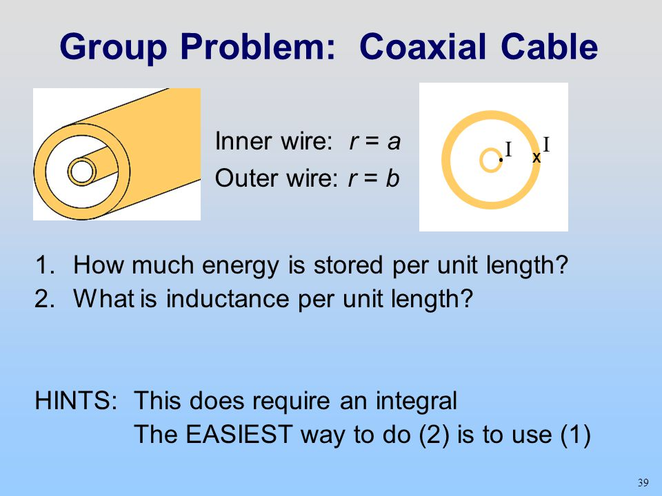 Group Problem: Coaxial Cable