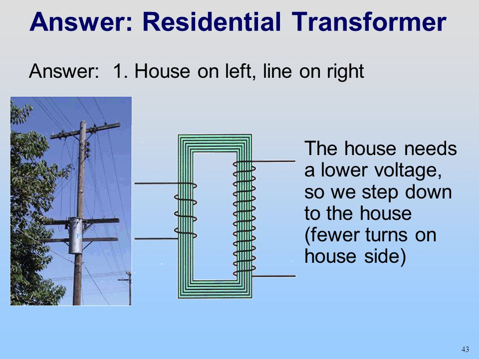 Answer: Residential Transformer
