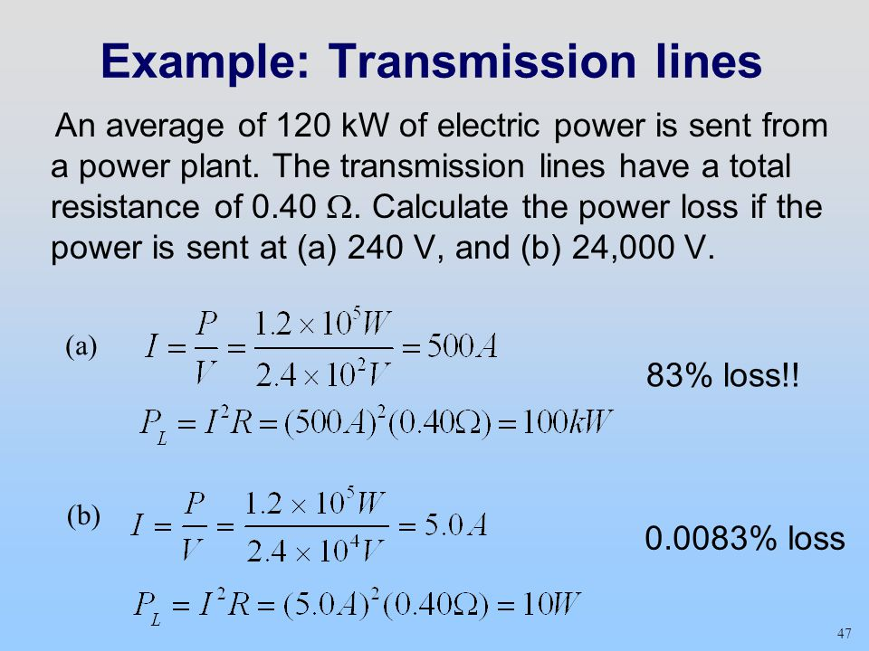 Example: Transmission lines