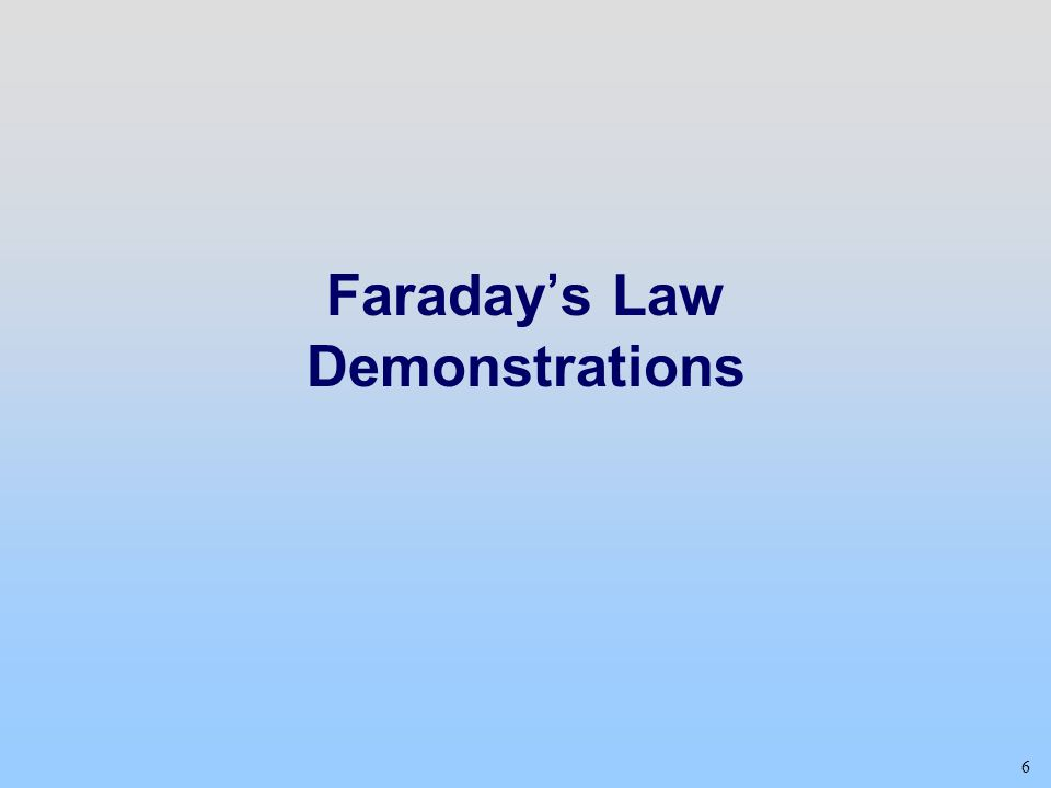 Faraday's Law Demonstrations