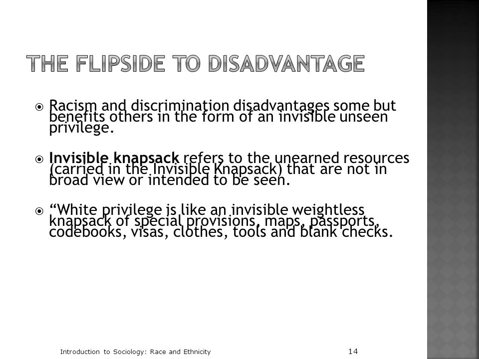The Flipside to Disadvantage