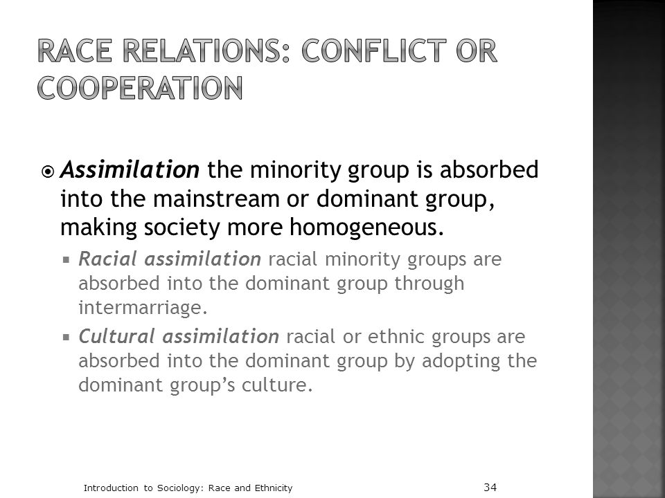 Race Relations: Conflict or Cooperation