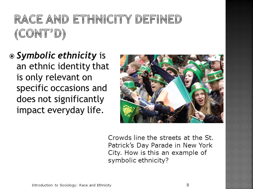 Race and Ethnicity Defined (cont'd)