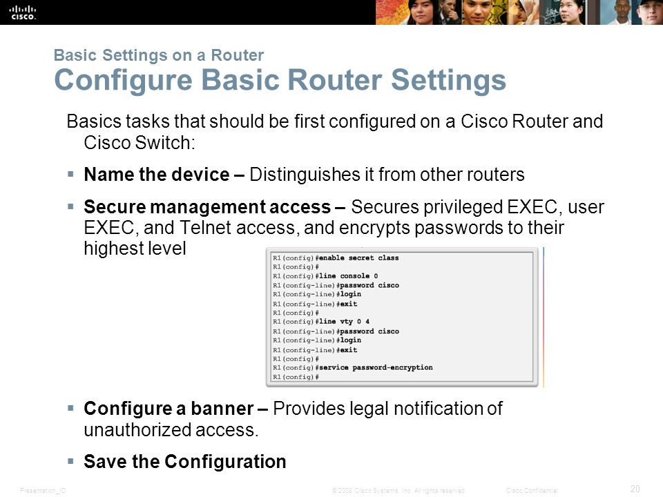 chapter 4 routing concepts ppt video online download rh slideplayer com AT&T Wireless Router Router Configuration Commands