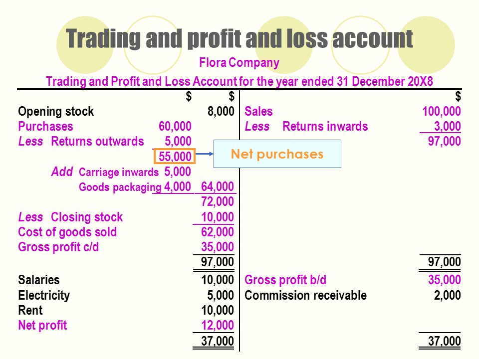 the profit and the loss