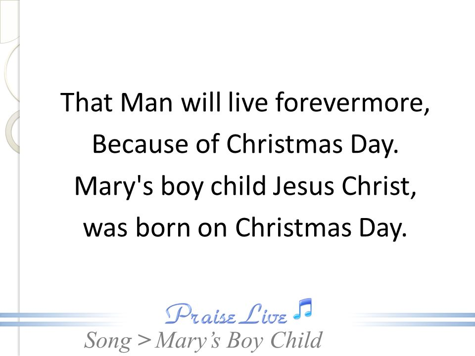 Mary S Boy Child Ppt Download