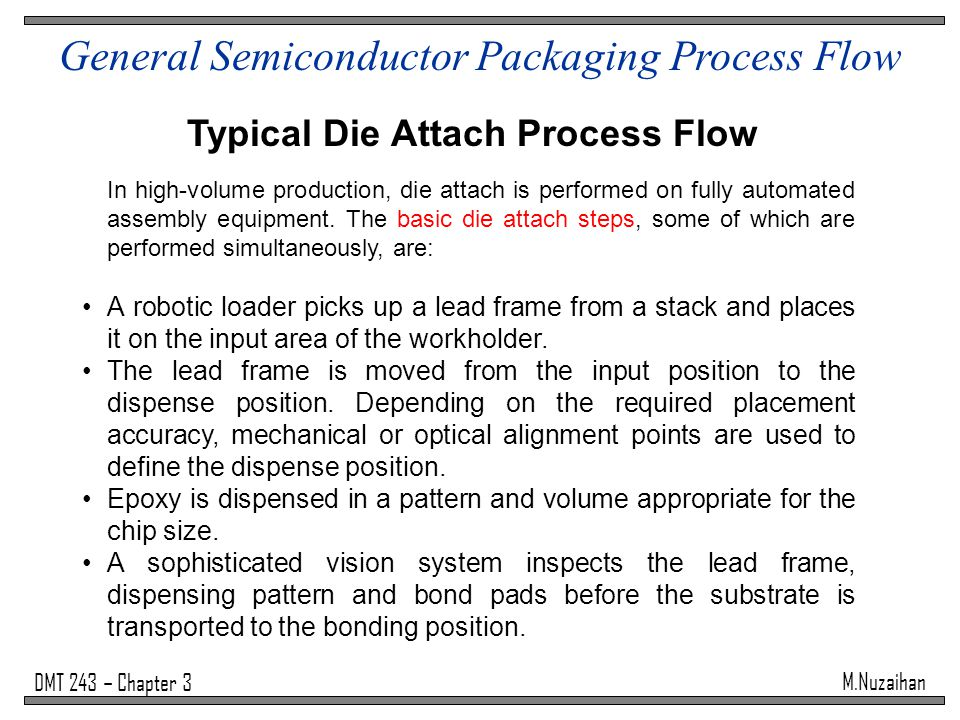 General Semiconductor Packaging Process Flow Ppt Video