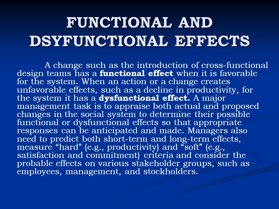 dysfunctional effects of organizational culture