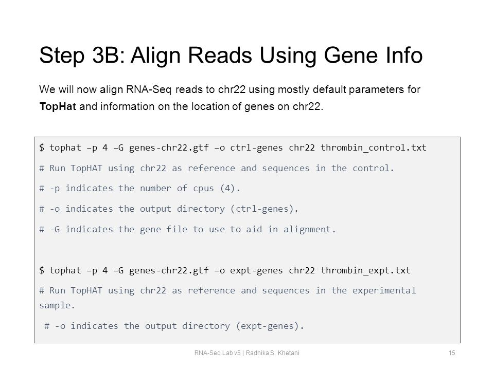 Step 3B: Align Reads Using Gene Info